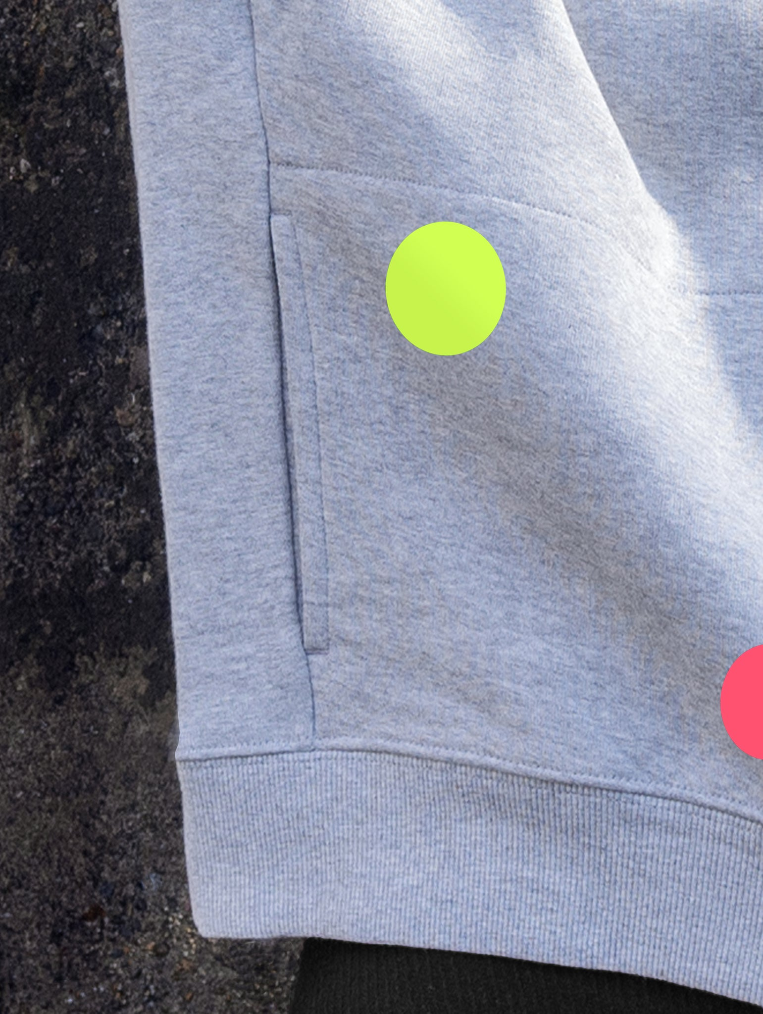 DANDY STAR NEO DOT SWEATSHIRT MARL GREY OR NAVY