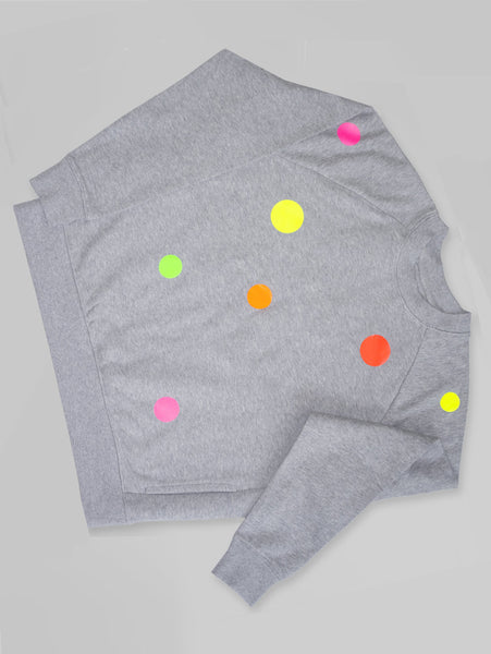 DANDY STAR NEO DOT SWEATSHIRT MARL GREY