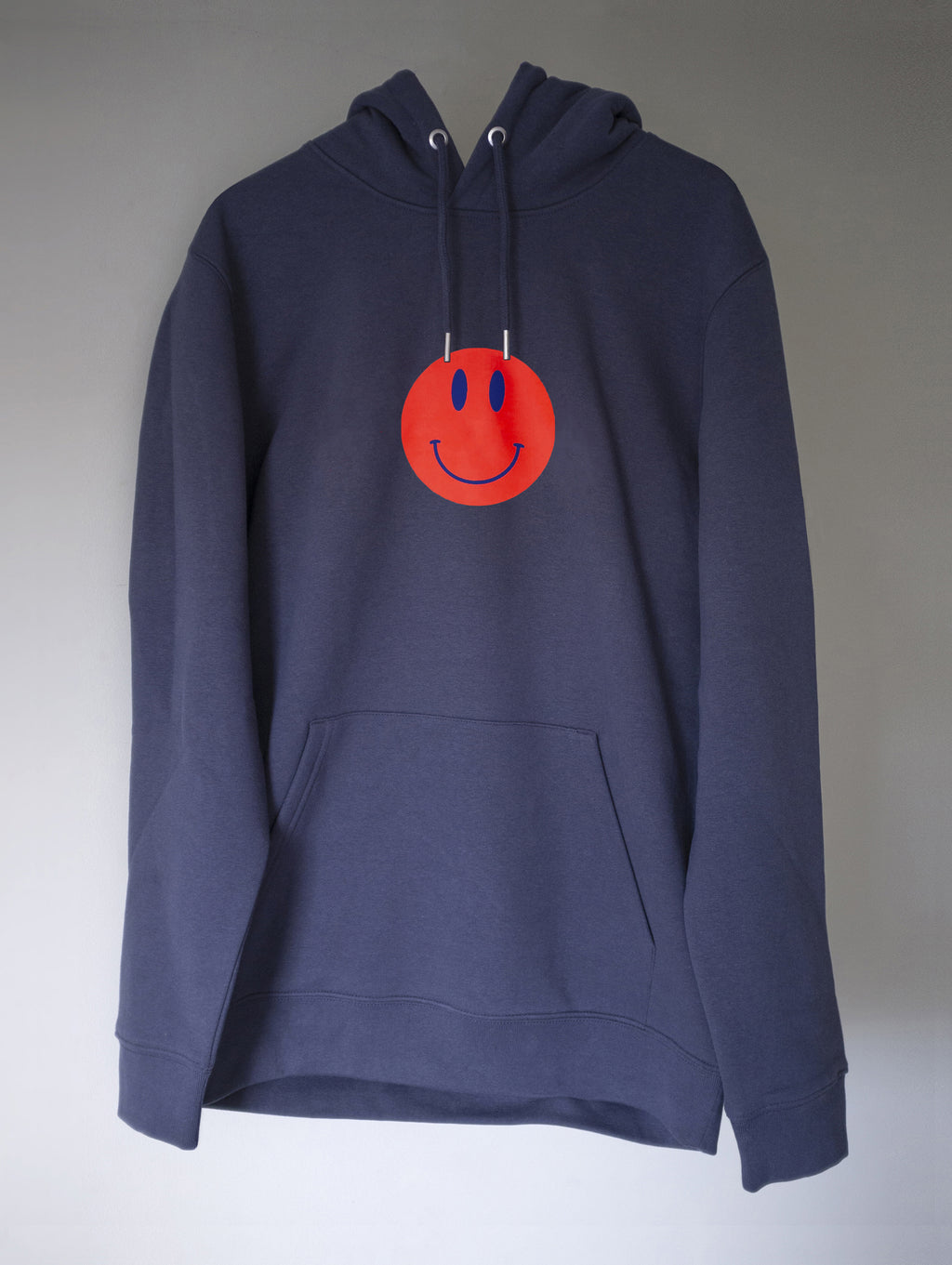 SMILEY HOODIE BLUE/BLACK INK