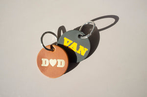 DANDY STAR VAN LEATHER KEY RING