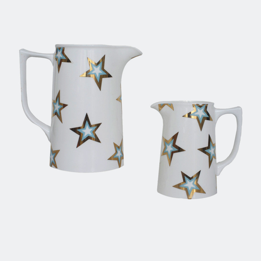 GOLD STAR BLUE JUGS : 1 PINT / 2 PINTS