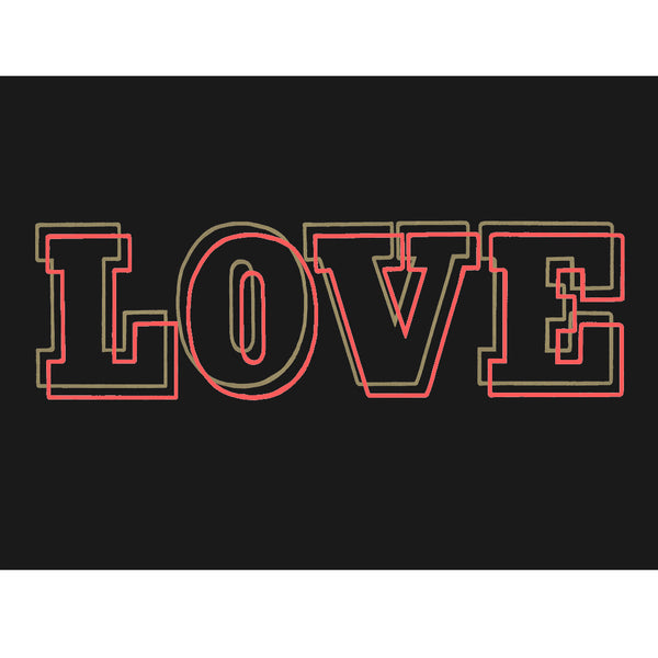 LOVE LINES DARK PRINT : 60 x 80 - Dandy Star