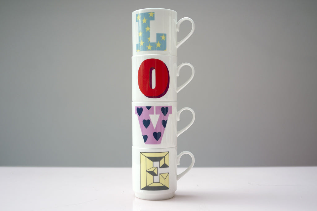 LOVE STACK OF MUGS - Dandy Star