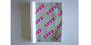 LOVE WRAP - SINGLE SHEET AS ADD ON ORDER / 5 OR 10 SHEETS - Dandy Star