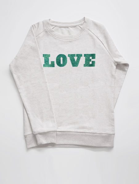 DANDY STAR LOVE AQUA SWEATSHIRT