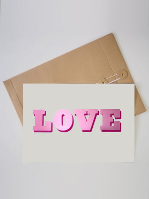 LOVE FOIL A4 LIMITED EDITION PRINT