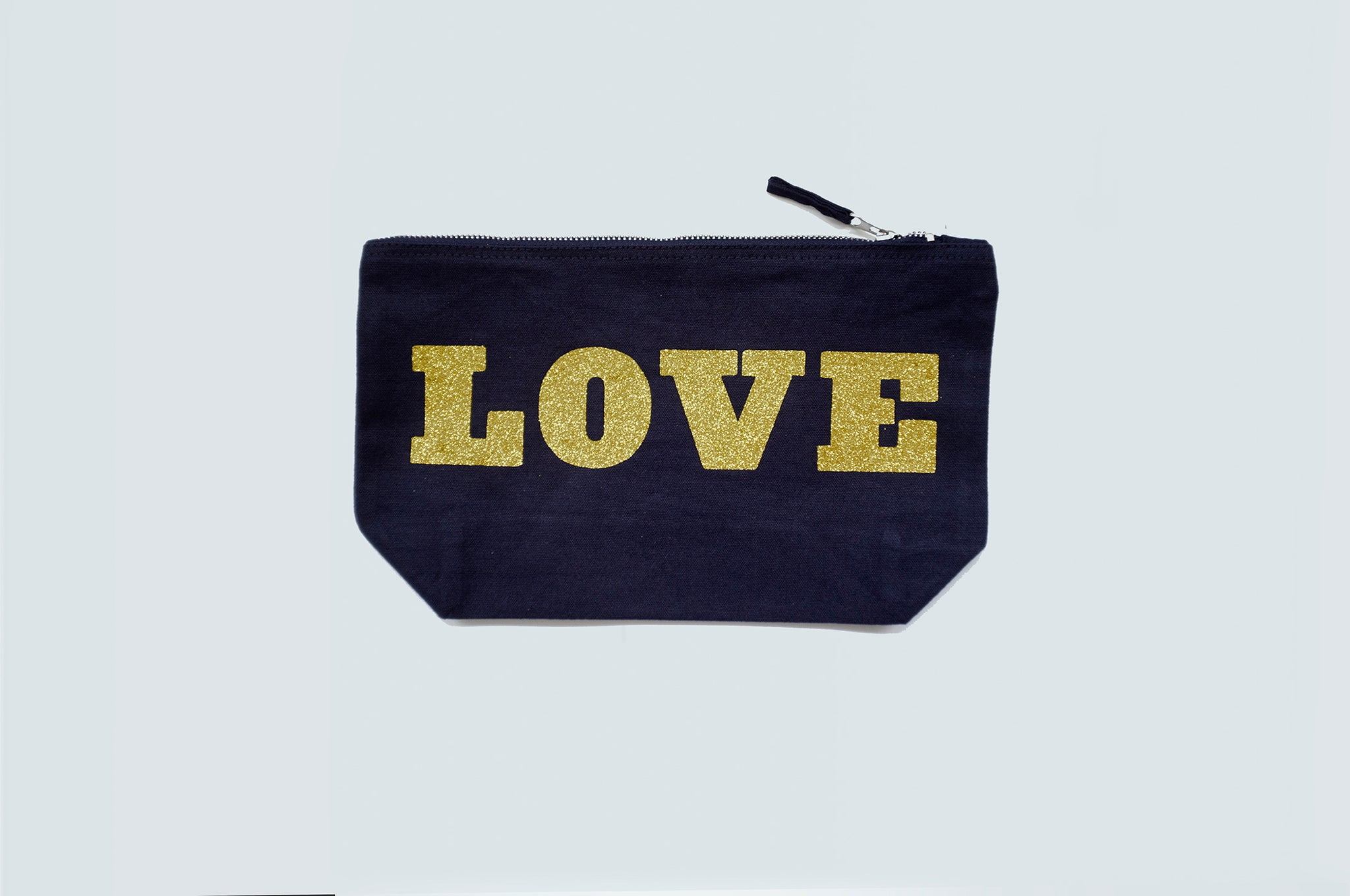 DANDY STAR LOVE GLITTER ACCESSORY BAG - NAVY