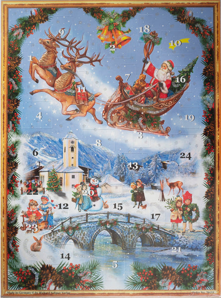 FATHER CHRISTMAS ADVENT CALENDAR