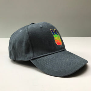 RAINBOW PEACE SIGN CAP