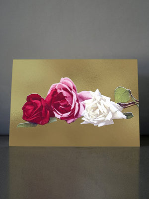 DANDY STAR VINTAGE ROSES II GREETING CARD