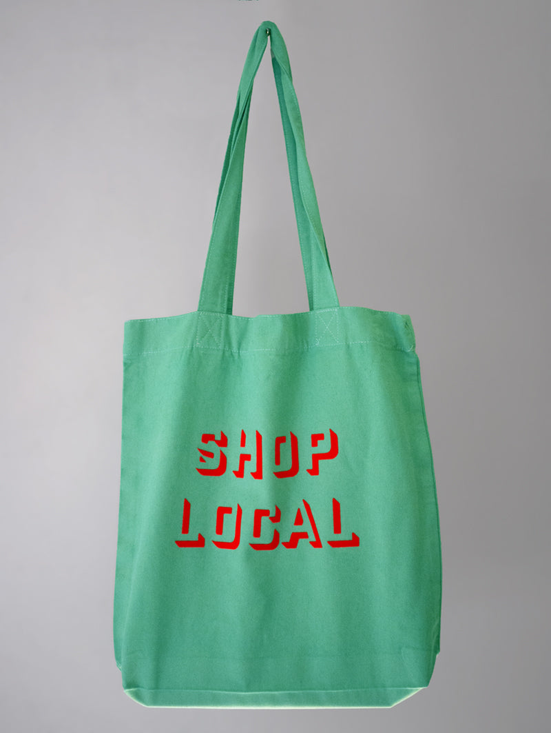 SHOP LOCAL BAG GREEN/NEON