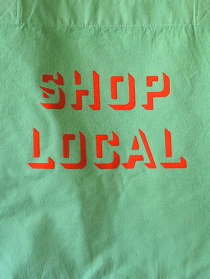 SHOP LOCAL LARGE GREEN /NEON