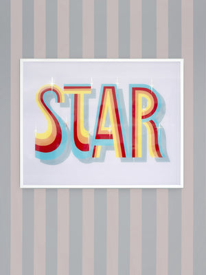 'STAR' ENAMEL GLASS PAINTING