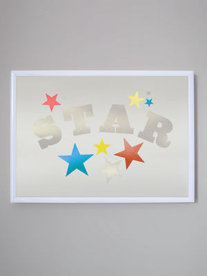STAR FOIL A4 LIMITED EDITION PRINT