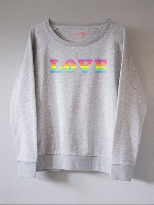 LOVE RAINBOW SWEATSHIRT