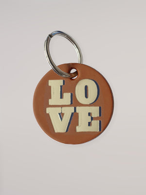 TAN LOVE KEY RING