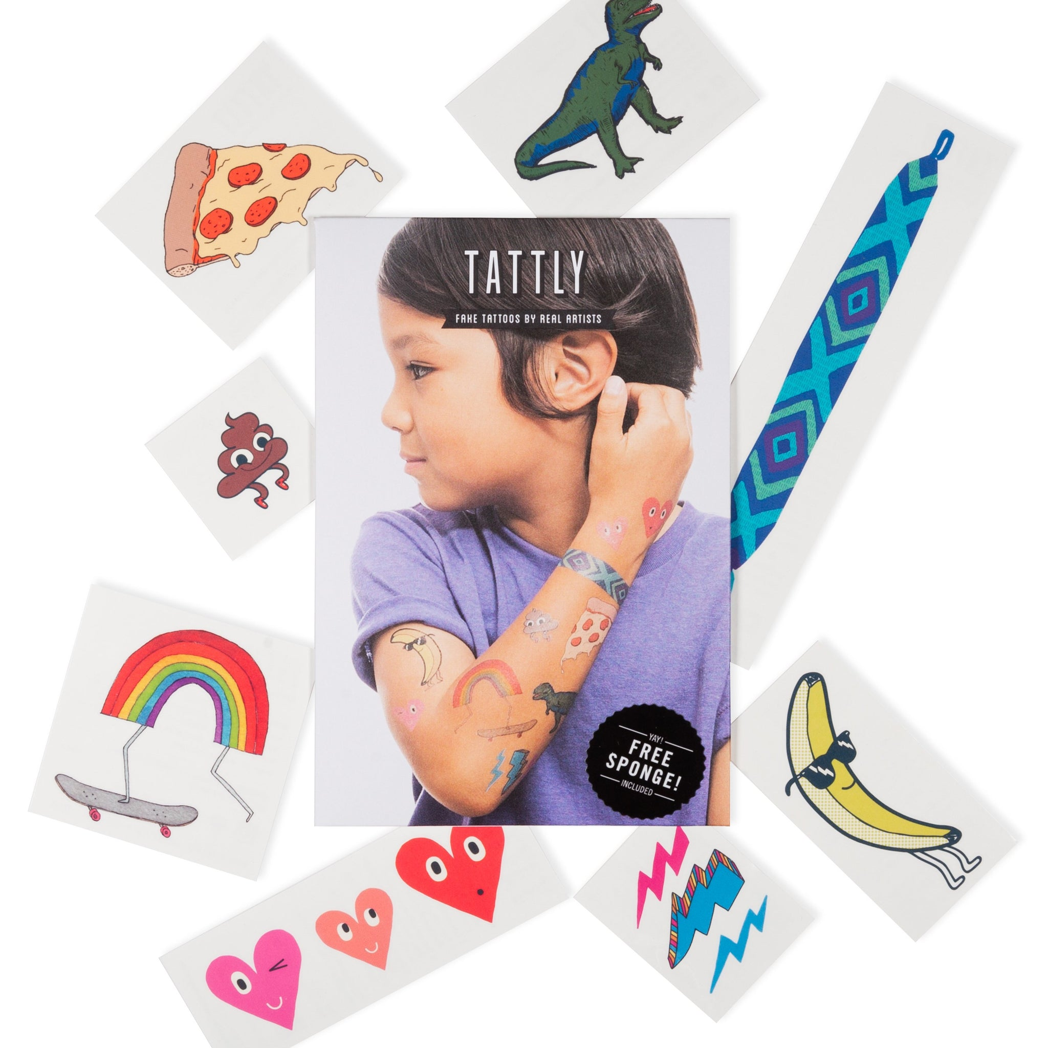 KIDS MIX SET X8 TATTOOS + SPONGE