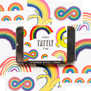 THE RAINBOW TATTLY TINY TIN x10 TATTOOS