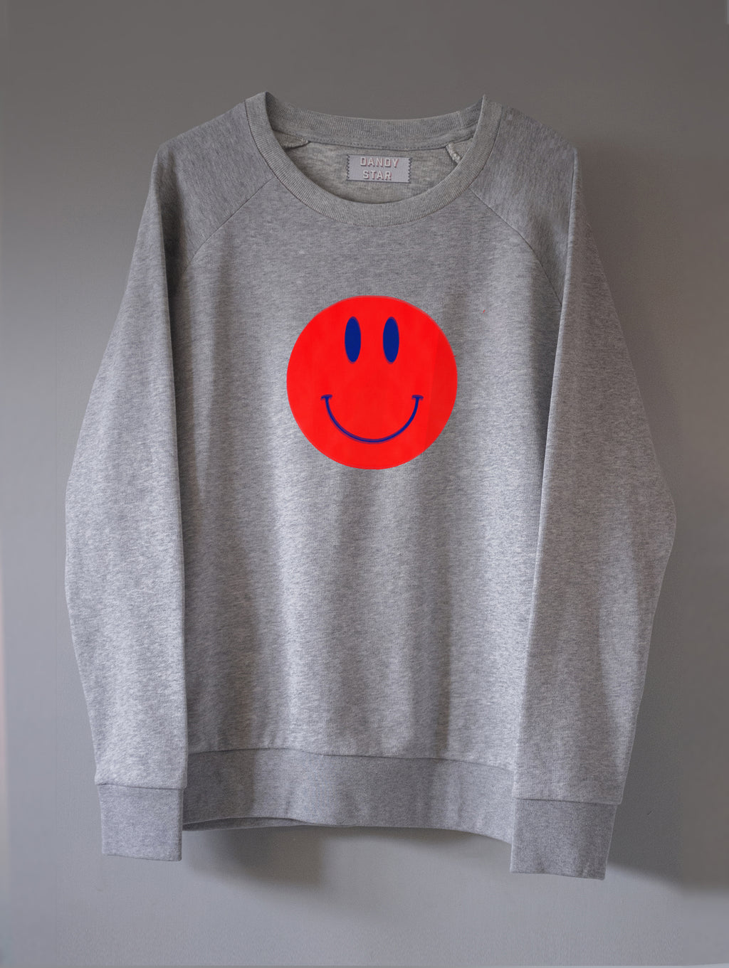 DANDY STAR MARL SMILEY SWEATSHIRT