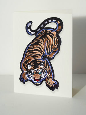 DANDY STAR CROUCHING TIGER PATCH CARD