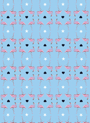 FLAMINGO WRAP - SINGLE SHEET AS ADD ON ORDER / 5 OR 10 SHEETS - Dandy Star
