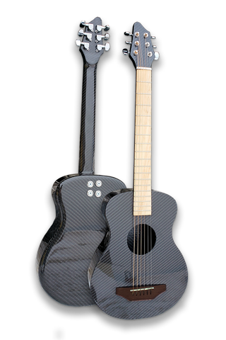 Carbon Fiber Premium Acoustic Electric Travel Guitar