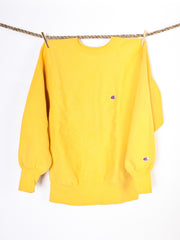 Vintage Yellow Champion Crew neck Sweater - Size L