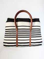 Black & Ivory Stripe