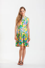 Vintage 1960's Psychadelic Drop Waist Dress - Size 8/10