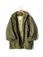 Vintage Mens Olive Green US Army M65 Field Coat : Size Large