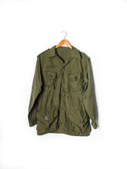 Vintage Mens Olive Green US Army M65 Field Coat: Size Medium