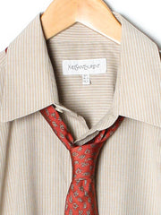 Vintage YvesSaintLaurent Stripes Dress Shirt