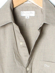 Vintage christian Dior Grey Dress Shirt Size 14