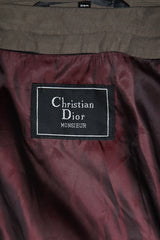 Vintage Christian Dior Monsieur Trench Coat Grey Green size 38 Regular
