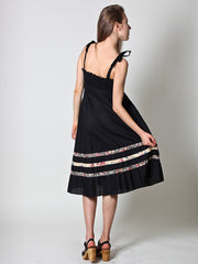 Vintage Spaghetti Strap Dress in Black - Size XS