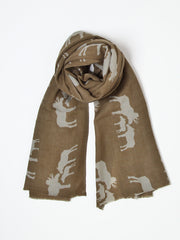 Wool Moose Scarf