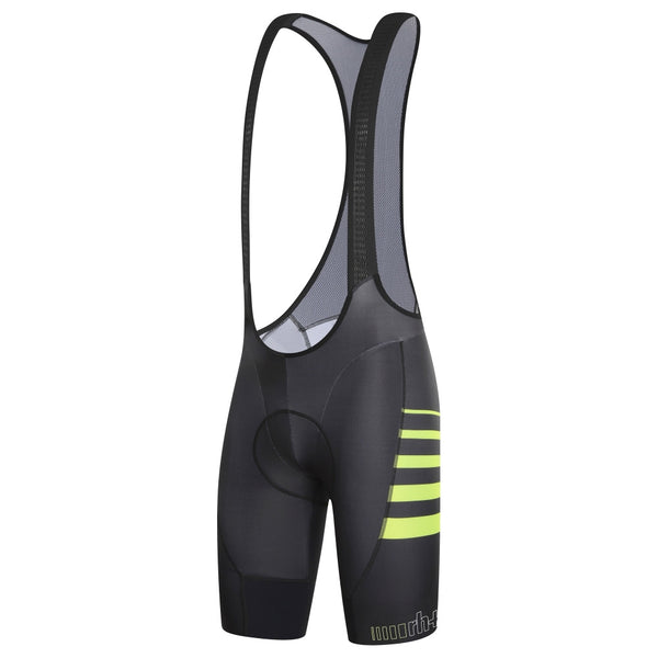 Dryskin Airx Bibshorts Black Acid Yellow