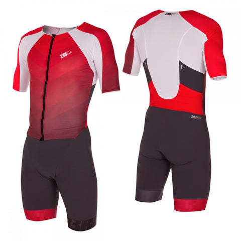 ZeroD TT Triathlon suit Grey & Red