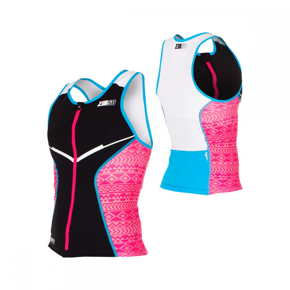 Racer Tri Top female Pink/Atoll