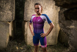 ZEROD Female TT Triathlon Suit Purple/Pink