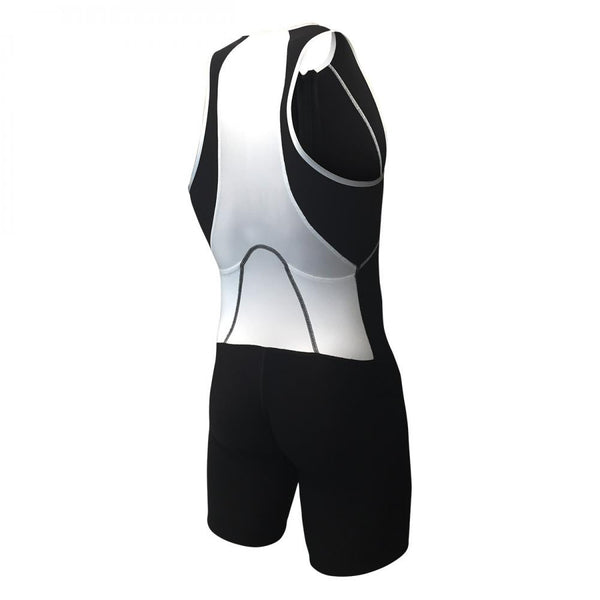 USuit with Front Zipper Black& White