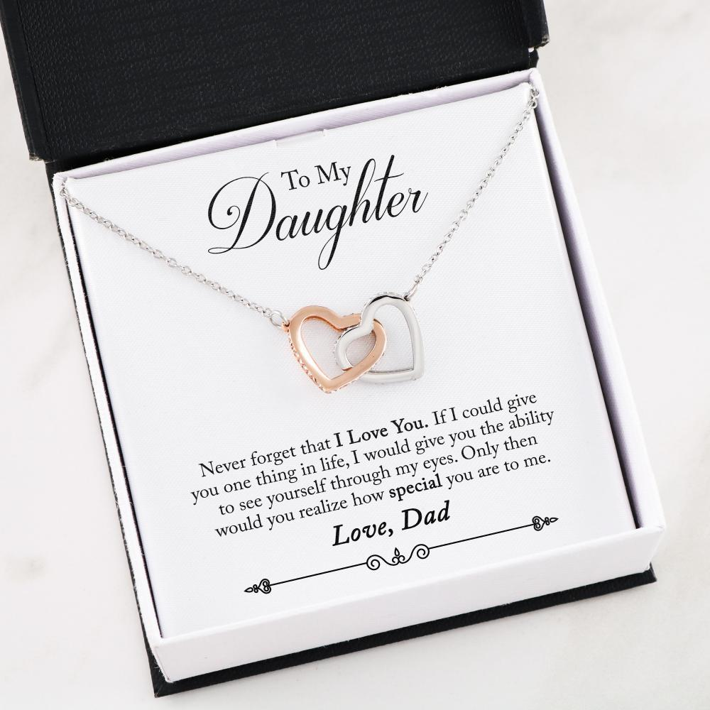 Never Forget That I Love You From Dad Jewelry ShineOn Fulfillment