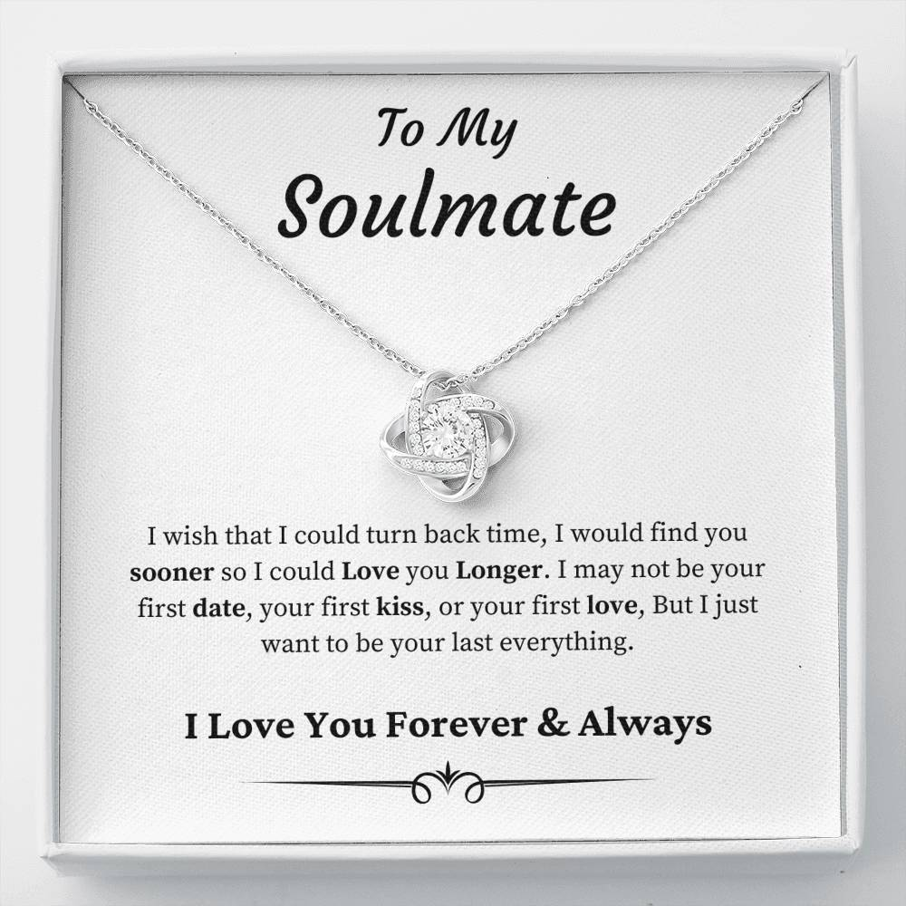 To My Soulmate - Love Knot NecklaceJewelry - Unique Orchid