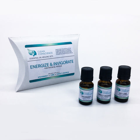 ENERGIZE & INVIGORATE ESSENTIAL OIL KIT