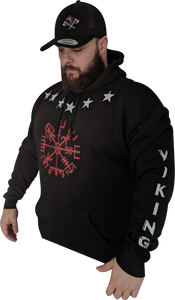 Heavy weight Unisex Viking Forge Compass Pull over Hoodie