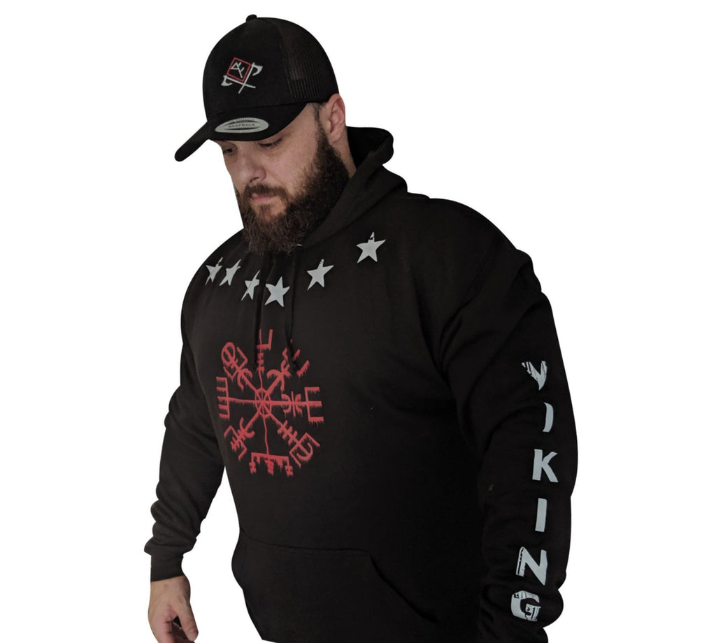 Heavy weight Unisex Viking Forge Compass Pullover Hoodie