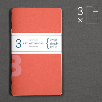 Draw, Sketch, Brush: set of 3 notebooks