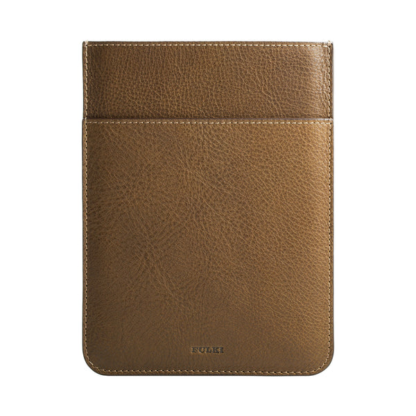 iPad Mini Leather Pocket Sleeve in Olive Green