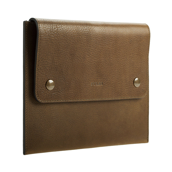 iPad Leather Case in Olive Green