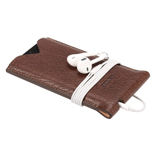 Leather iPhone 5 Fold Case in Umber